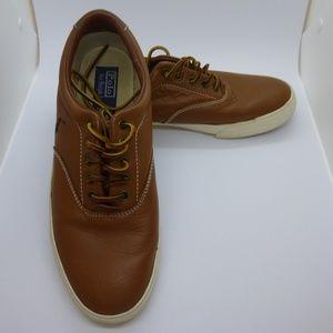Leather Polo Ralph Lauren Vaughn Shoes, Size 10.5C